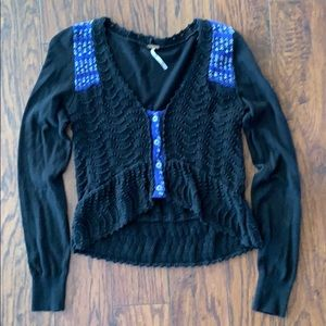 Free People crop cardigan. Small